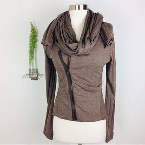 BCBGMaxazria Trendy Brown Zipped Up Jacket